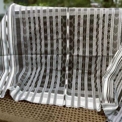 Kashida embroidery throw_White